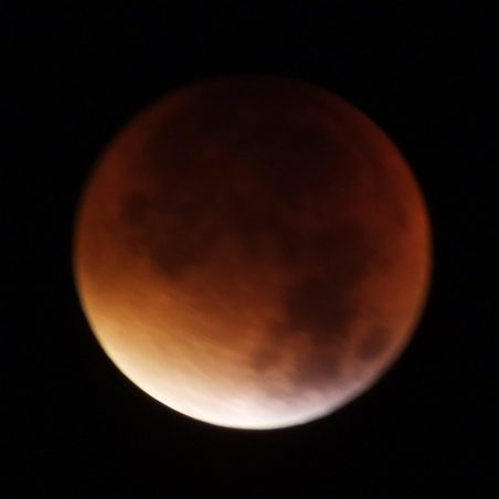 Start of full eclipse 3.13 am. FUJIFILM FinePix HS30EXR F/5.6 at 5 secs. | Phil Coley
