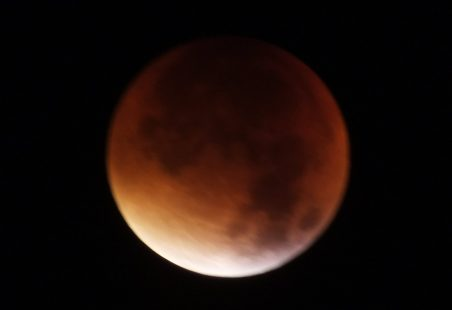 """Blood Moon"" over Benfleet"