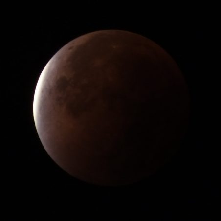 End of full eclipse 4.25 am. FUJIFILM FinePix HS30EXR F/5.6 at 1 sec. | Phil Coley