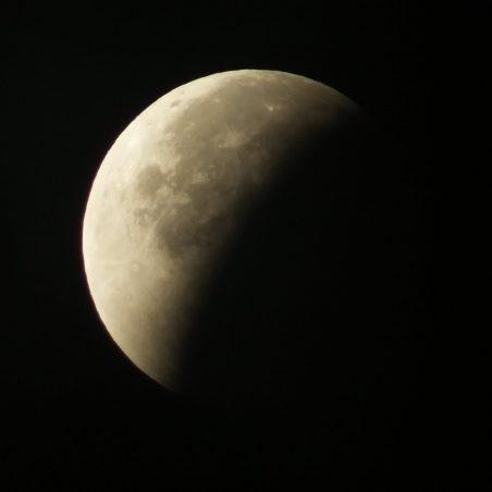 Second part of partial eclipse 4.54 am. FUJIFILM FinePix HS30EXR F/5.6 at 1/60 sec. | Phil Coley
