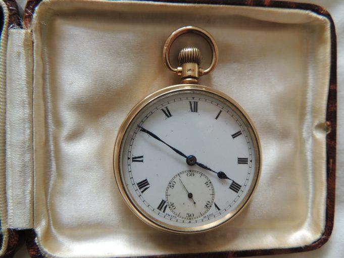 Gold Watch in presentation box | Frank Gamble