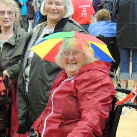Betty Jeffery prepared for our very British weather | Frank Gamble