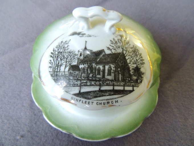 Picture 1. Butter dish depicting St. Mary's Church on the lid | Frank Gamble