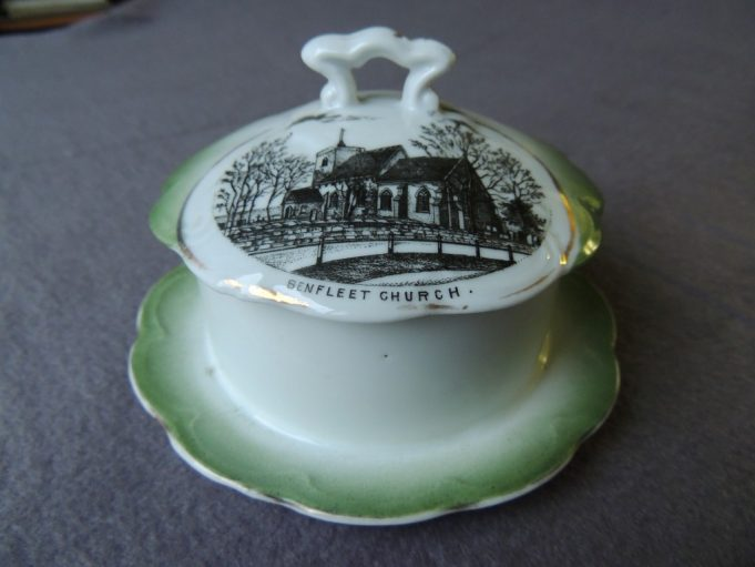 Picture 2. Butter dish depicting St. Mary's Church on the lid | Frank Gamble