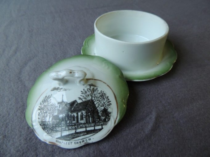 Picture 3. Butter dish depicting St. Mary's Church on the lid | Frank Gamble