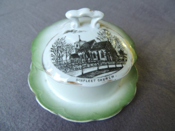 Picture 4. Butter dish depicting St. Mary's Church on the lid | Frank Gamble