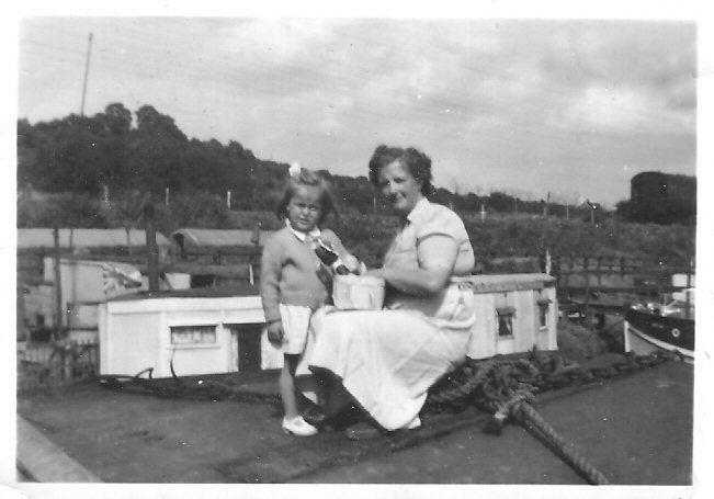 Anne's mum, Daisy on the deck of Millie  1955 | Bennett family