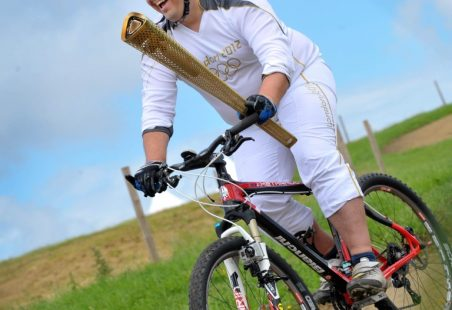 Hadleigh Olympic Torch - Mountain Bike Section