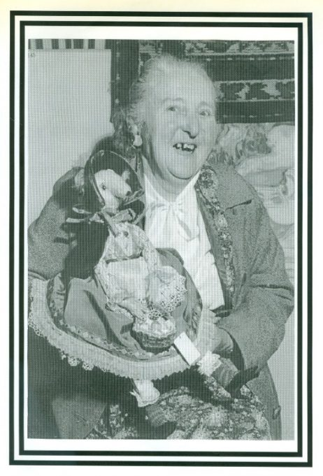 Elsie in later years with her hand made doll. | Sue White