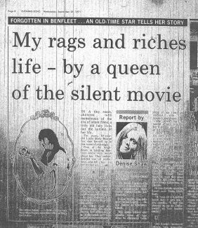 Part of the original article in the Evening Echo.   Evening Echo 29th September 1971