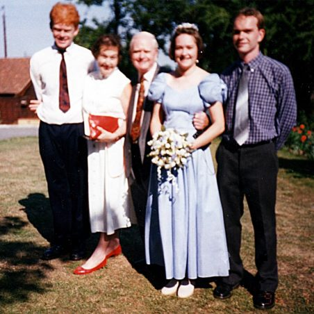 Edward Pilkington with son, wife Tricia and daughter Pamela.