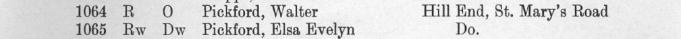 Helen's parents in the Benfleet 1937-38 Electoral Roll
