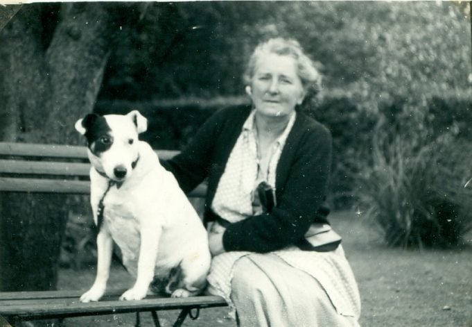 Elsie with her beloved pet dog | Sue White