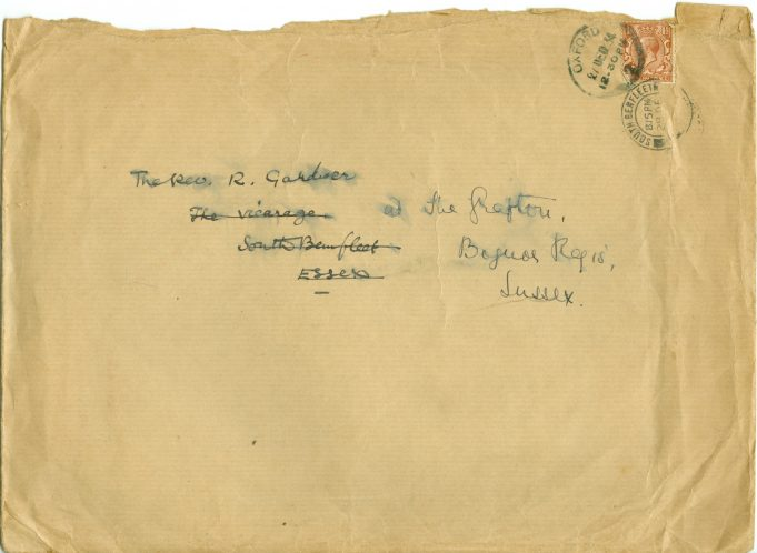Letter from Sir Charles Nicholson | The Betty Matson Collection
