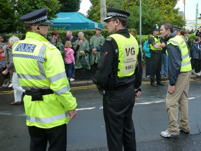 Essex Police Bronze Commander briefing an officer. | Phil Coley