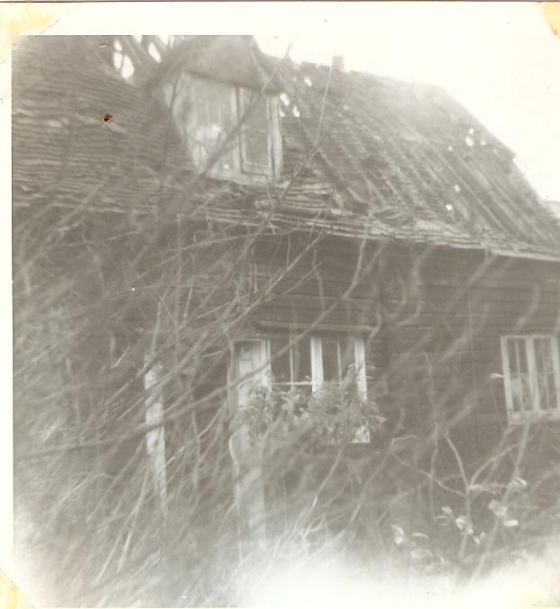 Clapboard Cottages in Essex Way, just prior to demolition. c.1965 | Celia Drew