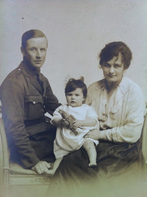 My Grandparents, Bertie & Daisy and my mother Sybil in 1917 | Lynn Tait