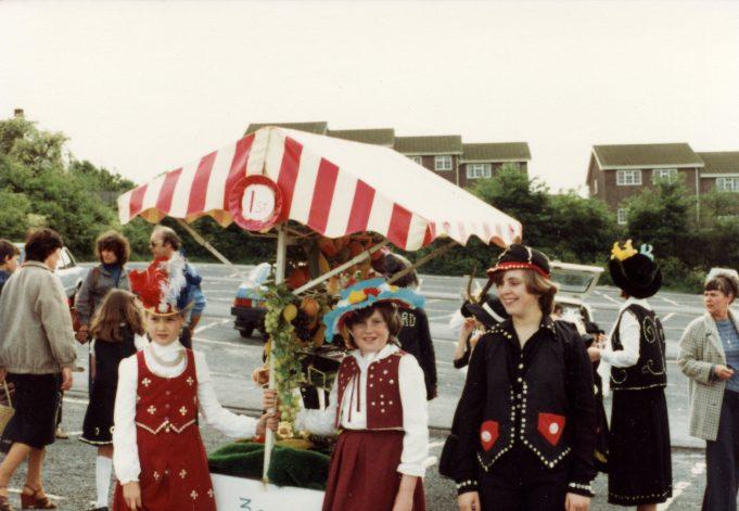 1st South Benfleet Brownies, dressed as Pearly Kings & Queens - 1982 | Melanie Graham