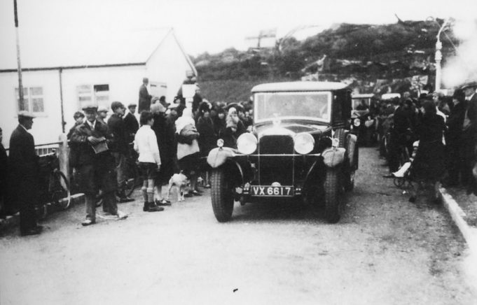 The first car over the bridge | From the Geoff Barsby collection