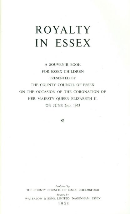 Title page | County Council of Essex