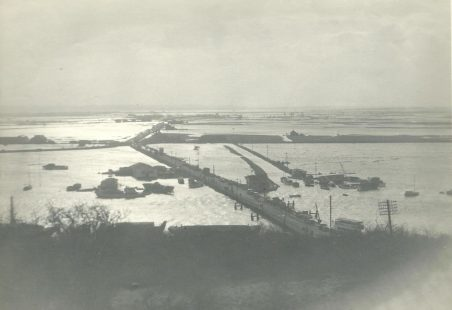 Views of Canvey Floods from Benfleet 1953