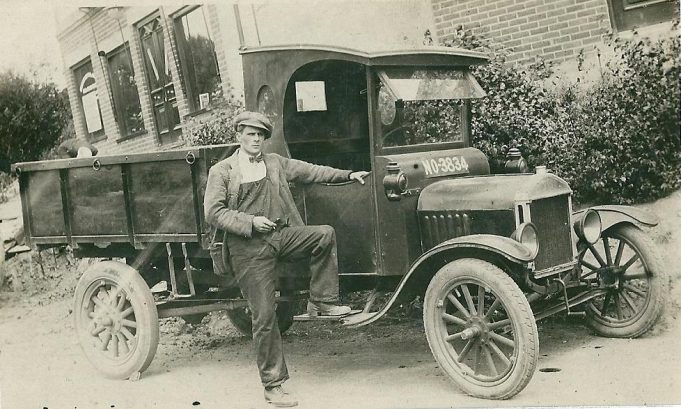 Frank Bardell (brother to Alf) with his Essex County Council lorry at the bottom of Vicarage Hill | Bertie Bardell