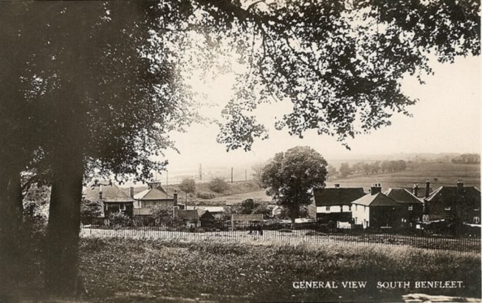 Looking towards the Conservation area towards the railway line from what is now the station carpark | R F Postcards