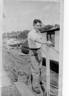 Norma's Uncle George on the houseboat | Courtesy of Norma Harber