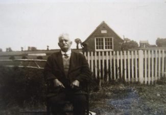 My Grandfather with the telephone exchange in the background c.1930s. | © J. Wernham.