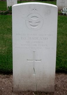 Grave of Douglas Farrant Hadland. | Copyright.  The War Graves Photographic Project.