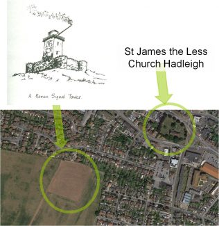 Location and shape of Hadleigh Roman fortlet | Phil Coley