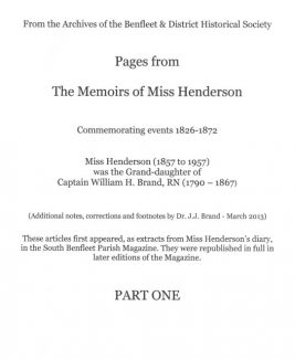 The Memoirs of Miss Henderson - Part 1