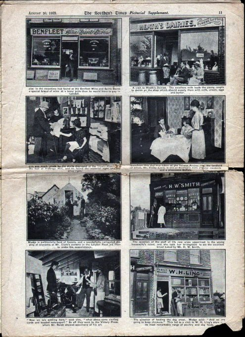 Pt 3: Jim and Madge visit Benfleet shops. | Southend Times 30th August 1923
