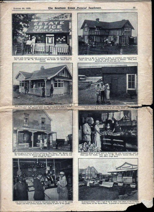 Pt 5: Elsie and Joe look for property on Canvey Island. | Southend Times 30th August 1923