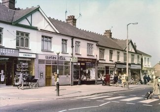 This picture was taken when Hopes Green Post Office had the postbox outside it.  It is thought that the photo may have been taken in the 60s; but if you know differently please let us know by adding a comment below. | Jenny Day