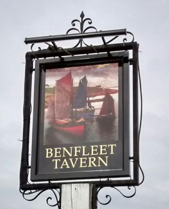The new sign of the Benfleet Tavern April 2017 | Margaret March