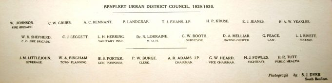Benfleet Urban District Council 1929 - 1930