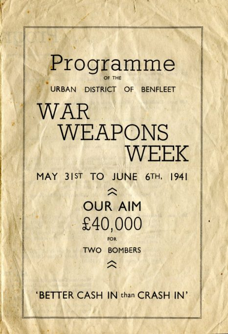 Front Cover of the Programme for War Weapons Week May 31st - June 6th 1941 | Courtesy of the Bay Museum