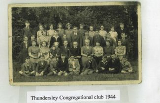 My father, John H Stockwell (2nd row down, 4th from left) Thundersley Congregational Club 1944 | Tracy & Paul Kreyling