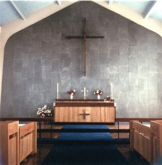 More recent picture of the modern altar.