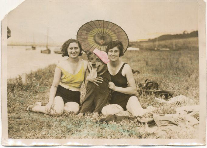 Doris and Sally Bass down by the creek
