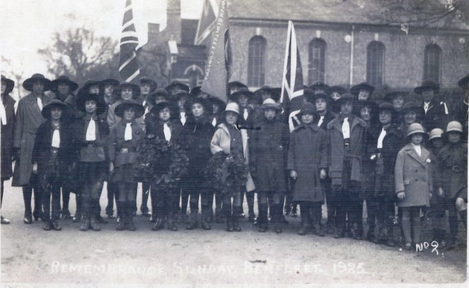 1st South Benfleet Guide Company Rememberance Sunday 1925 Benfleet | From the collection of Melanie Graham