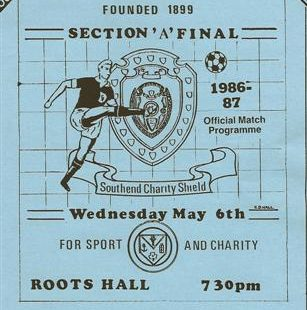 Benfleet V Southend Manor at Roots Hall 1986-7