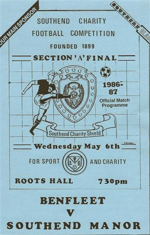 Front cover of game programme 1986 -87