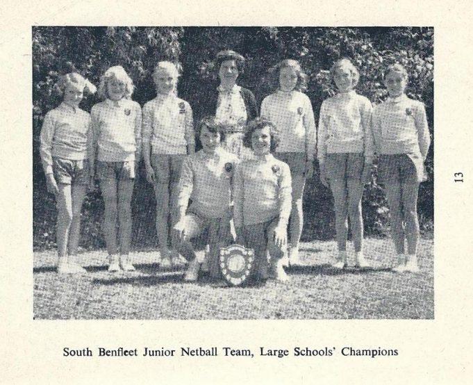 South Benfleet Junior School Netball Team 1959 - 1960 | The Handbook of South East Essex School's Sports Association, 1959 -60