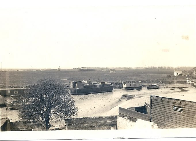 Church Creek in 1940's taken from the rear of The Hoy. | Joan English (nee Philips)
