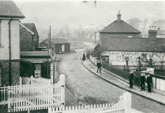 The old railway crossing gates are in the foreground, this picture was taken from the footbridge, but can anyone date the picture?   Joan English (nee Phillips)