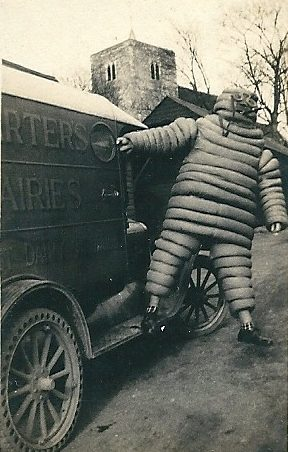 Fancy dress was all the rage, Harry dressed as Michelin Man | Joan English (nee Phillips)