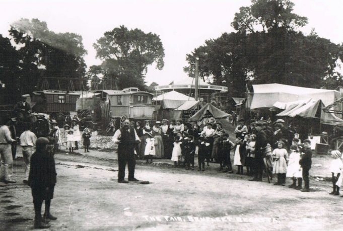 A fair at The Anchor meadows in 1908 where an annual fete was held | Essex Record Office