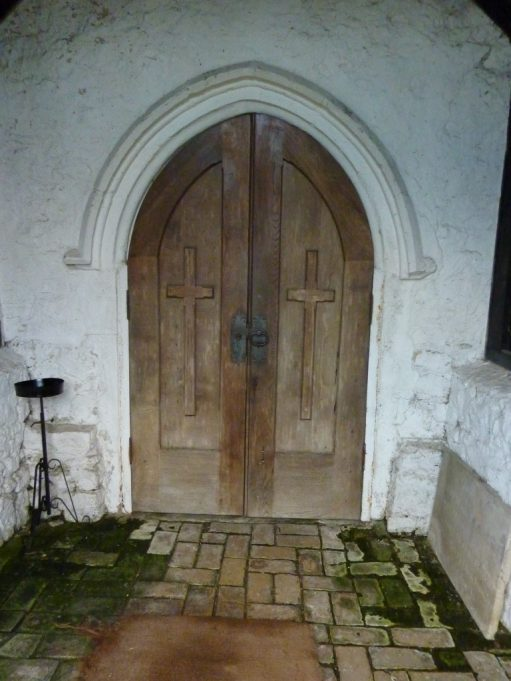 The unusual door of St Margaret's Church. | Margaret March